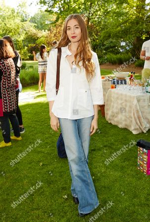 Anouska Beckwith attends the Suno Summer Picnic in Eaton Square on Thursday 4th June