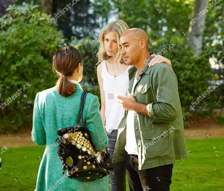 Stock Photo of Max Osterweis and Ophelia Hohler attend the Suno Summer Picnic in Eaton Square on Thursday 4th June