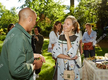 Stock Picture of Max Osterweis and Martha Ward attend the Suno Summer Picnic in Eaton Square on Thursday 4th June