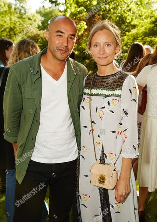 Max Osterweis and Martha Ward attend the Suno Summer Picnic in Eaton Square on Thursday 4th June