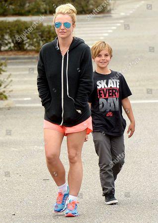 Stock Image of Britney Spears, Sean Federline