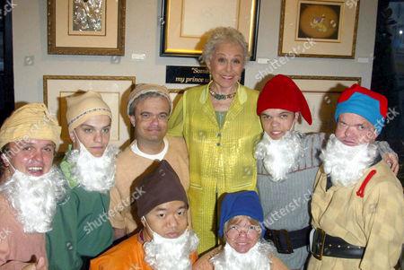 Marge Champion (Snow White) Original model and seven dwarfs