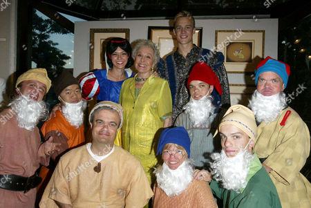 Elizabeth Sheldon with Marge Champion (Snow White) Original model and dwarfs