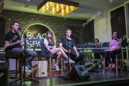 Nick Stevenson from Mixmag answering questions from budding music entrepreneurs at Lynx Black Space in Shoreditch.