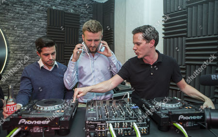 Nick Stevenson from Mixmag giving DJ tutorial at Lynx Black Space in Shoreditch, at one of a series of talks happening at the venue.