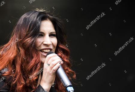 Singer Charlotte Wessels of Dutch metal band Delain