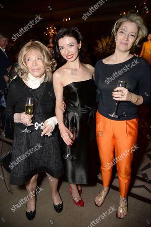 Petronella Wyatt, Mirjam Maramaa and guest