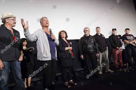 Paul Johnstone, Tim Burns, Joanne Samuel, George Miller, Vernon Wells, Vincent Gil and stuntman Dale Bench