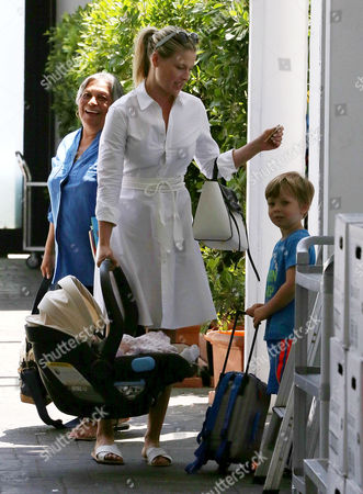 Ali Larter with children Theodore Hayes MacArthur and Vivienne MacArthur