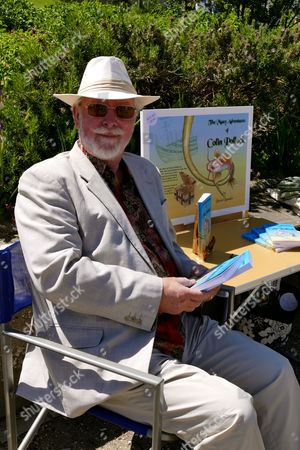 Stock Picture of David Bamber and his book The Many Adventures of Colin Pollock