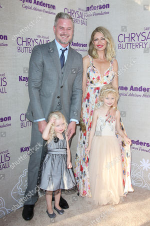 Eric Dane and Rebecca Gayheart with their daughters Georgia Dane, Billie Dane