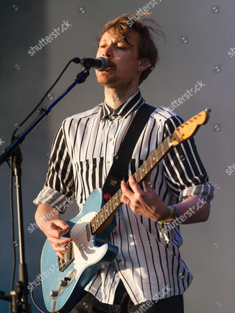 Django Django performing live at Field Day Festival Saturday Day 1. In this picture - Vincent Neff.
