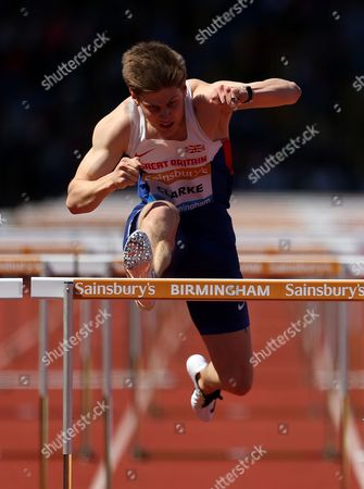 Great Britain Lawrence Clarke during the Men's 110m Hurdles