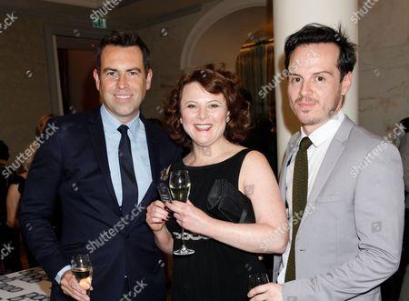 Stephen Beresford, Monica Dolan, and Andrew Scott