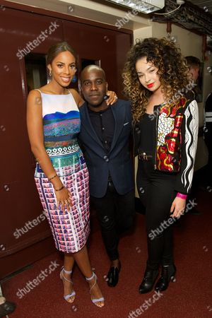Rochelle Humes, Melvin O'Doom and Ella Eyre