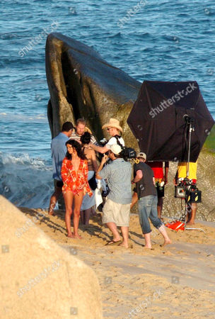 Nicky Hilton and husband , Todd Meister (dressed in blue shirt and baseball cap)