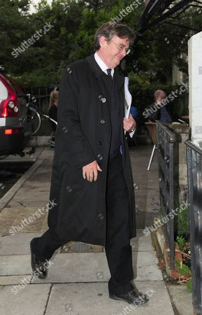 Lord Oakeshott Arrives Home On The Day He Resigned From The Liberal Democrats Foliowing A Leaked Opinion Poll On Lib Dem Leader Nick Clegg.