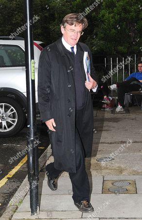 Lord Oakeshott Arrives Home On The Day He Resigned From The Liberal Democrat Party Following A Leaked Opinion Poll He Commissioned On Nick Clegg's Leadership Of The Party.