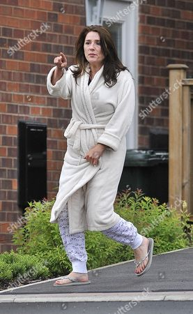 Trisha Malik Mother Of One Direction Singer Zayn Malik Shouts At Waiting Media Outside Her Home In Bradford West Yorkshire.