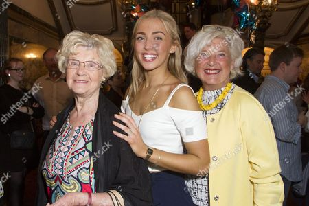 Stock Photo of Elizabeth Teanby, Gabriella Williams (Sophie Sheridan) and Elizabeth Williams attend the after party for the cast change of Mamma Mia at the Novello Theatre, London, England on 8th June 2015. (Credit should read: Dan Wooller/wooller.com). Paid use only. No Syndication