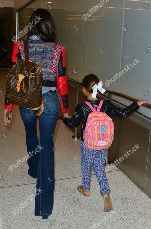 Editorial picture of Padma Lakshmi departing LAX Airport, Los Angeles, America - 04 Jun 2015