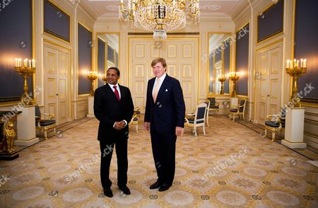 King Willem-Alexander during an audience with President Jakaya Mrisho Kikwete of Tanzania