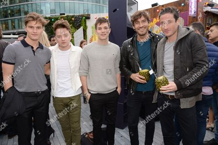 Oliver Cheshire, Conor Maynard, Will Best, Robert Konjic and Blaise Patrick