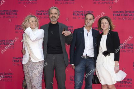 Jeremy Irons, his wife Sinead Cusack, Emilie Dequenne and her husband Michel Ferracci