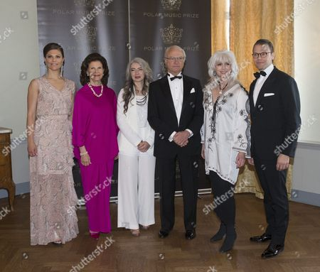 Crown Princess Victoria, Queen Silvia, Evelyn Glennie, King Carl Gustaf, Emmylou Harris, Prince Daniel