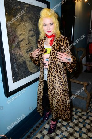 Pam Hogg, with Russell Young painting Marilyn Hope, estimate: £4,000-£6,000