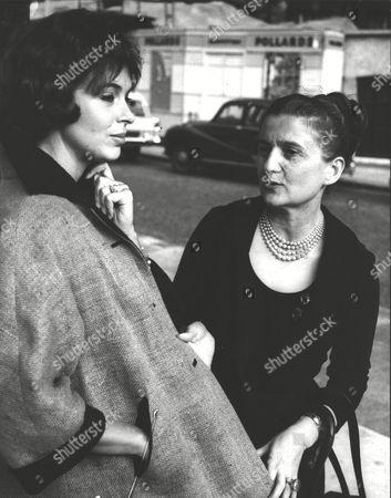 Italian Fashion Designer Zoe Fontana With Actress Marla Landi Who Models Under The Name Of Marla Scarafia. Box 0573 010615 00253a.jpg.