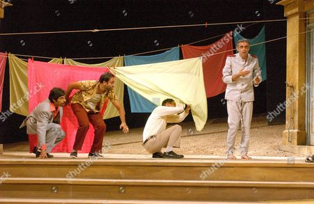 Shiv Grewal as 'Sir Toby Belch', Neil D'Souza as ' Fabian', Paul Bazely as 'Sir Andrew Aguecheek' and Paul Bhattacharjee as 'Malvolio'