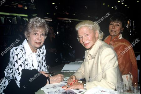 Madame Carven with Jacqueline Francois and Dominique Paulve during the signing of her book at Brentanos, Paris, France