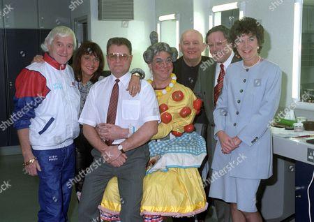 Jimmy Savile, Suzi Quatro, Donald Jones, Matthew Kelly, Brian Glover, Richard Whiteley and Margaret Jones
