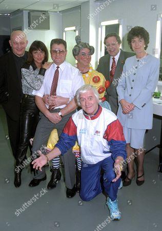 Brian Glover, Suzi Quatro, Donald Jones, Matthew Kelly, Richard Whiteley, Margaret Jones and Jimmy Savile