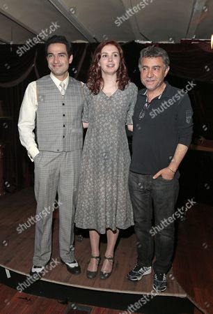 Alfonso Herrera, Hannah Murray and film director Antonio Chavarrias