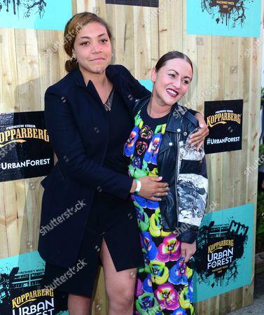 Miquita Oliver and Jaime Winstone