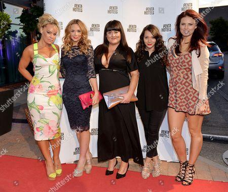Tamara Wall, Daisy Wood-Davis, Jessica Ellis, Nadine Mulkerrin and Twinnie-Lee Moore