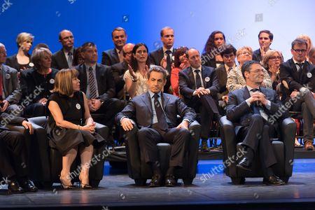 Joelle Ceccaldi-Raynaud, Nicolas Sarkozy and Patrick Devedjian
