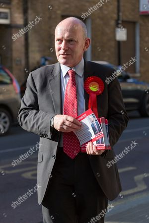 Labour Tower Hamlets Mayor candidate, John Biggs canvassing in Tower Hamlets, east London
