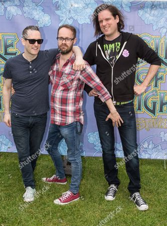 (L-R) Tim Wheeler, Rick McMurray and Mark Hamilton of Ash at the Isle of Wight Festival 2015