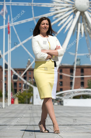 Nina Barbour, show president, poses in front of the Echo Arena, Liverpool to launch the inaugural Liverpool International Horse Show to take place 1-3 January 2016