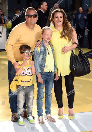 Sam Bailey and family with husband Craig Pearson and children