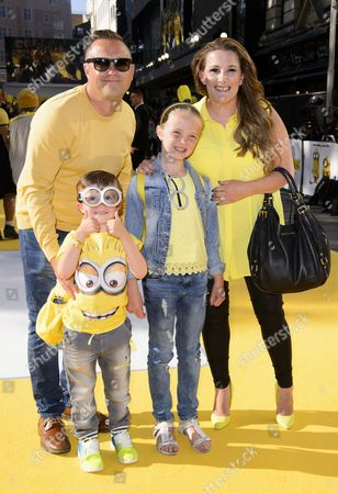 Sam Bailey with husband Craig Pearson and children