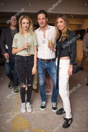 Idina Moncreiffe, Blaise Patrick and Lucy Wright