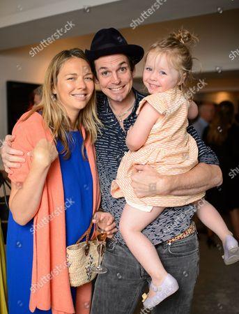Tori Cook, Hugo Heathcote and Lola Heathcote