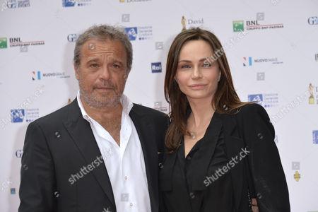 Stock Picture of Claudio Amendola, Francesca Neri
