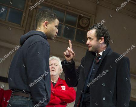 Calvin Demba as Jordan, Peter Wight as Yates, Daniel Mays as Kidd,