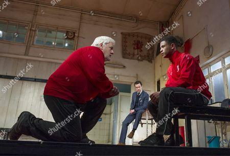 Peter Wight as Yates, Daniel Mays as Kidd, Calvin Demba as Jordan