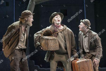 Hugo Weaving as Vladimir, Luke Mullins as Lucky, Richard Roxburgh as Estragon